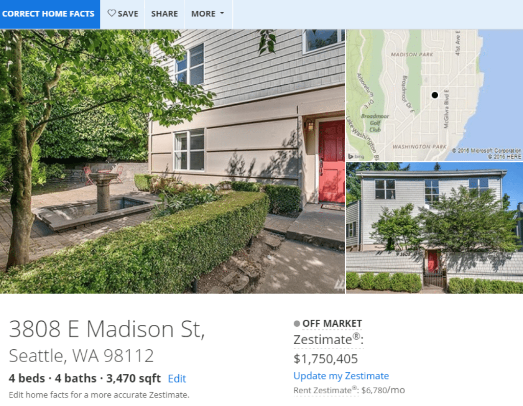 Zestimate accuracy zillow ceo sells home for 40 less for Zillow rentals com