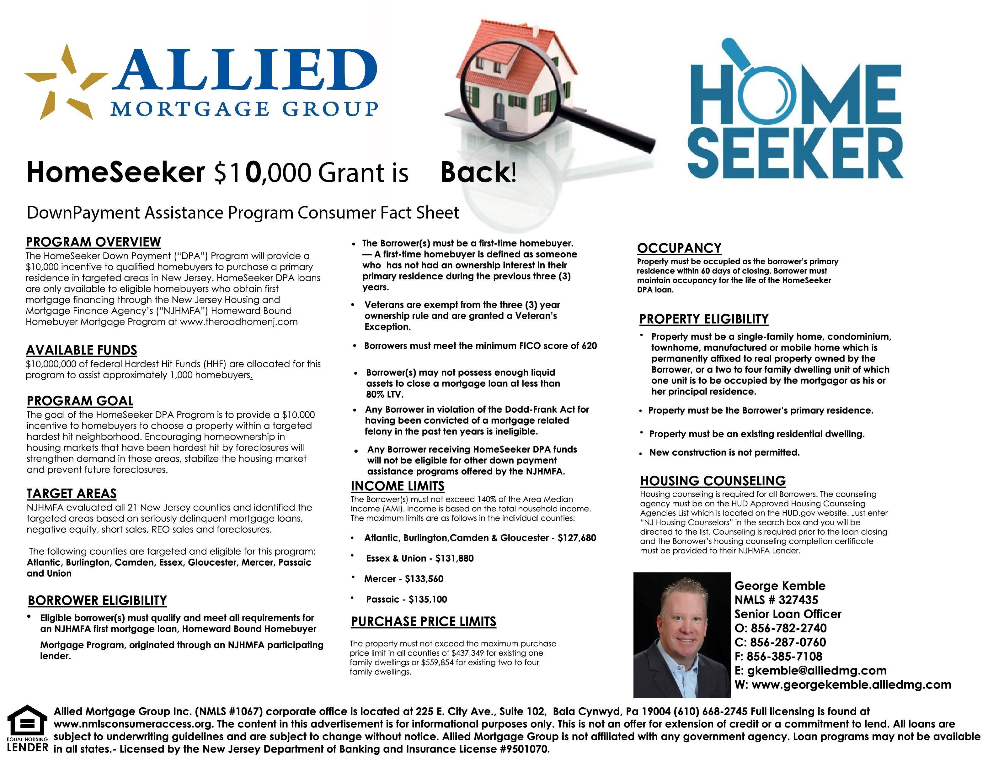 $10,000 HomeSeeker Grant